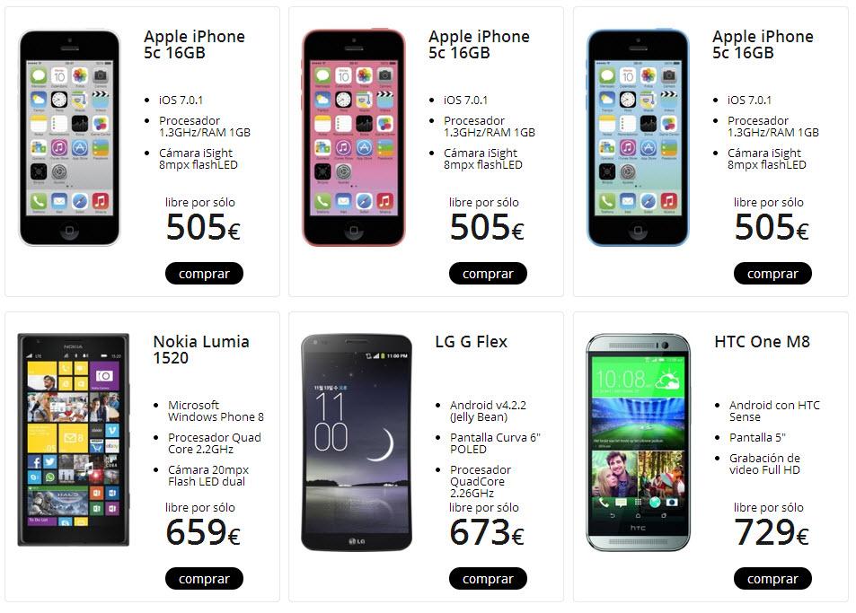 smartphones libres republica movil