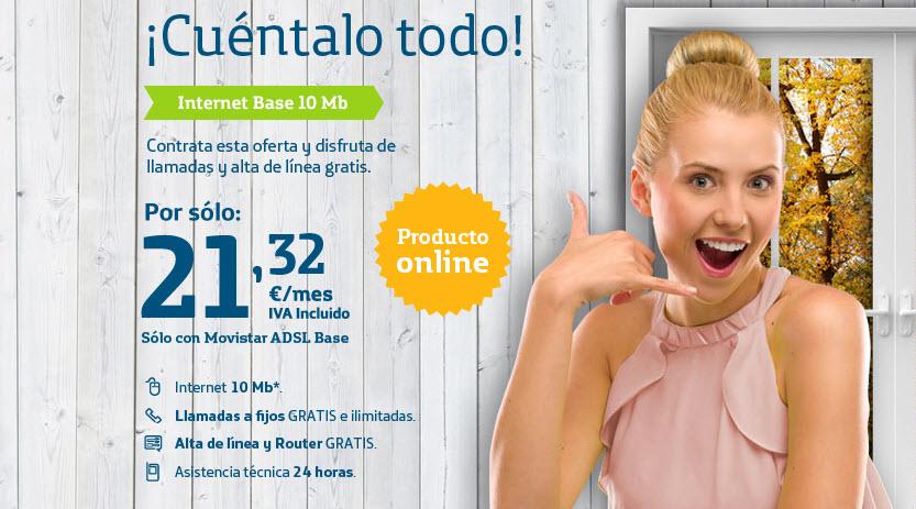 Movistar Internet Base 10mb opiniones