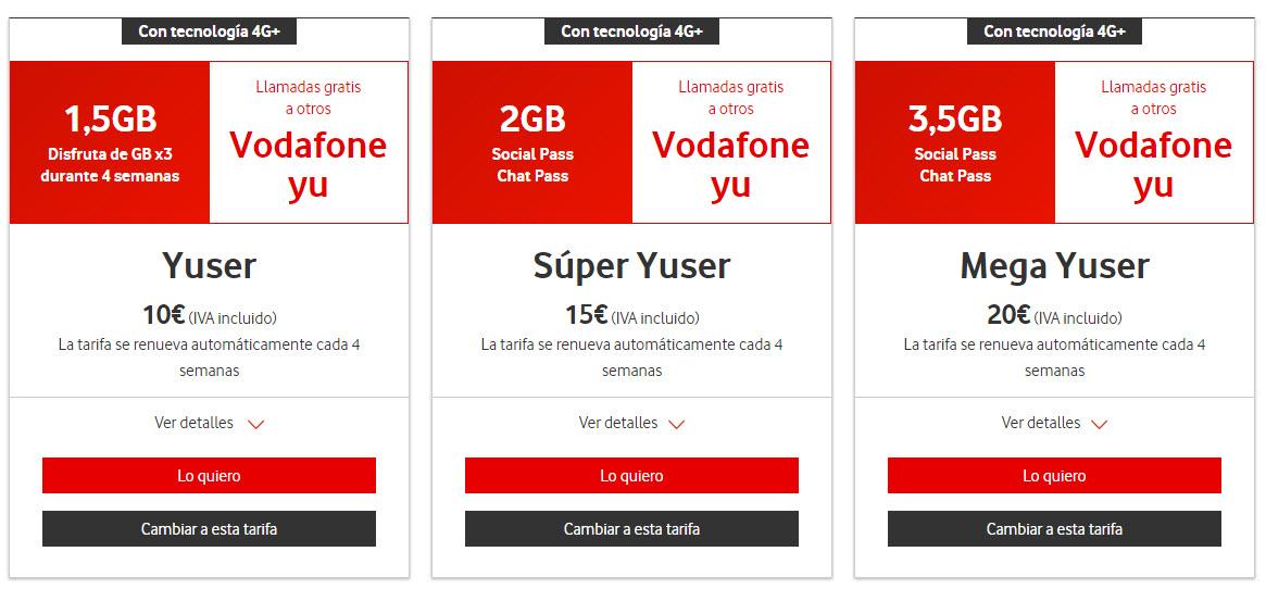 Vodafone 2018 tarifas prepago y contrato con internet - Vodafone tarifas internet casa ...