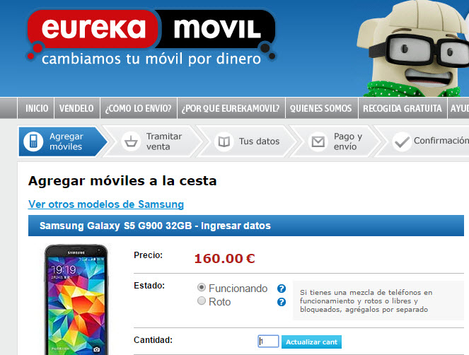 eureka movil samsung galaxy s5 32gb