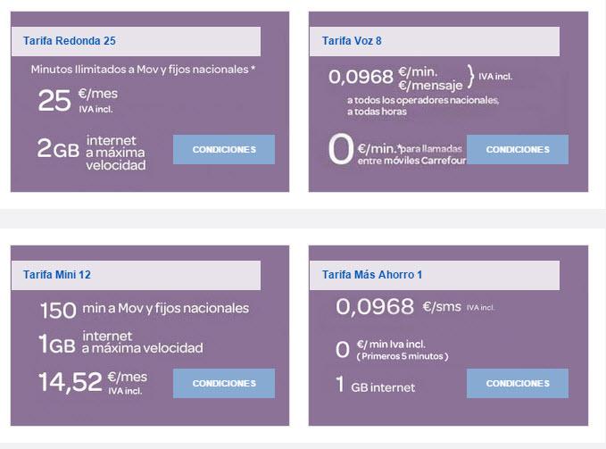 carrefour movil tarifas contrato 2015