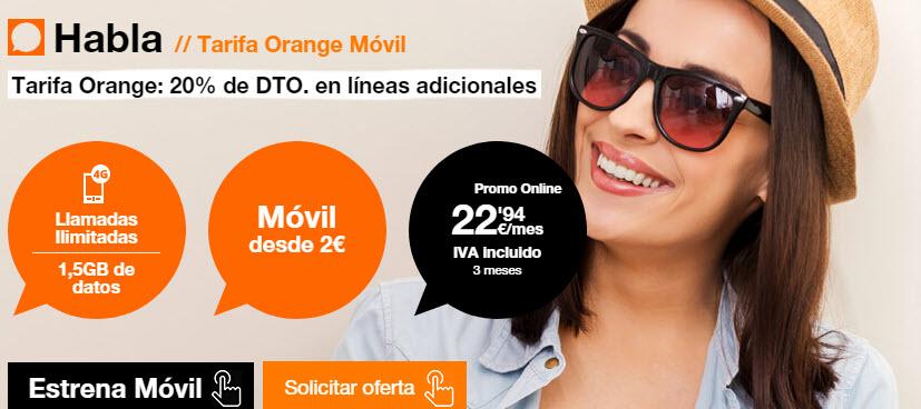 vente a orange con contrato