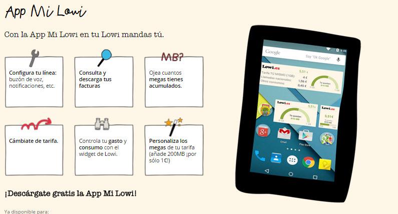 Lowi app