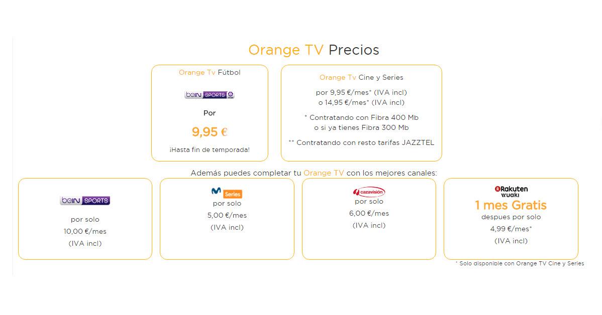 jazztel tv precios