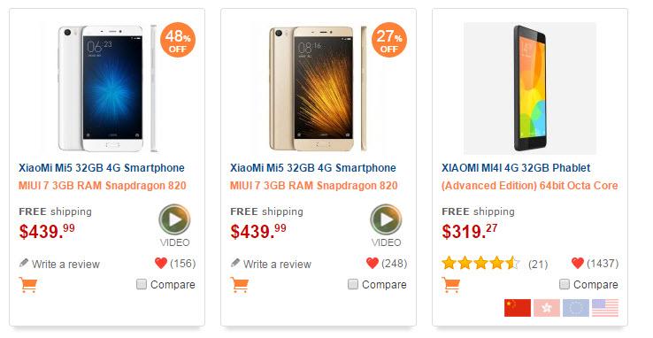 moviles chinos Xiaomi 2016
