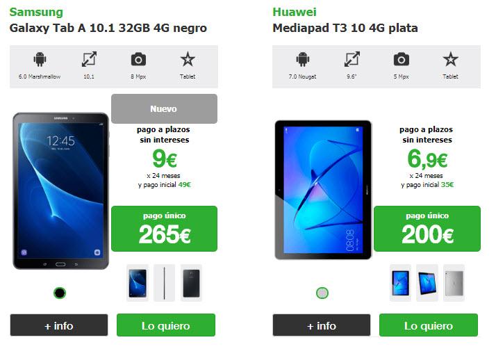 tablets amena precios