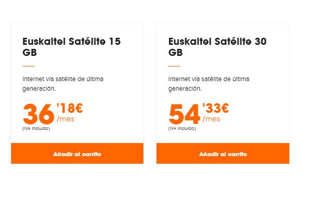 tarifas euskaltel satelite