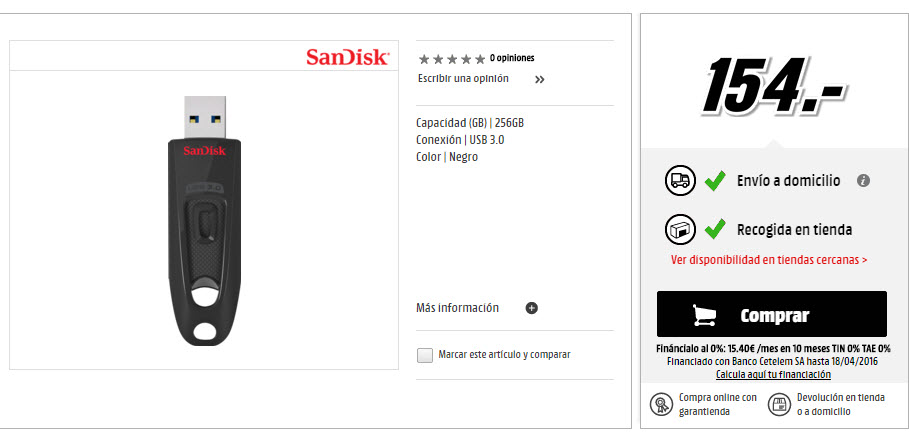 pendrive sandisk 256 Gb