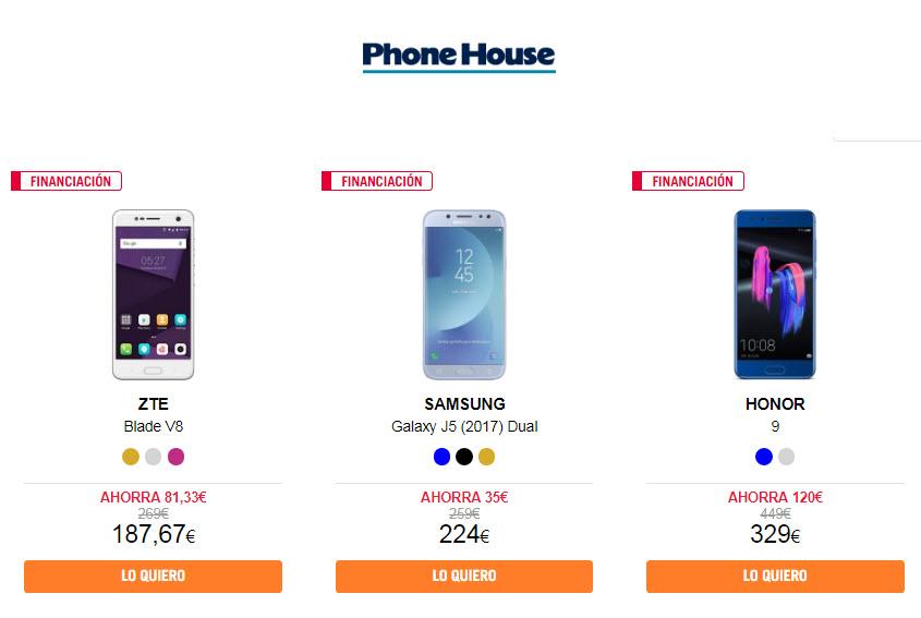 ac9d47d079d Por último, si las opciones anteriores no te encajan simplemente puedes  acceder a las ofertas de Phone House para móviles libres, entre los que  encontrarás ...