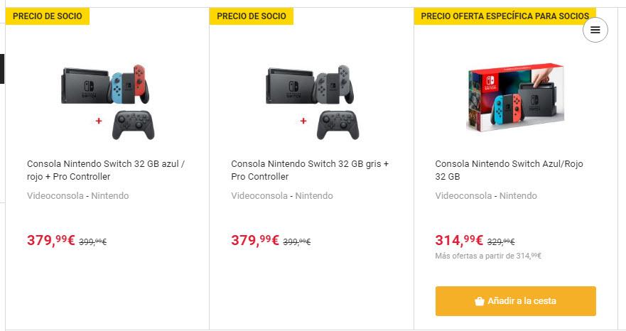 precios Nintendo Switch