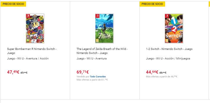 precios juegos nintendo switch