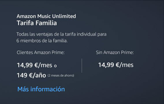 amazon unlimited music precio
