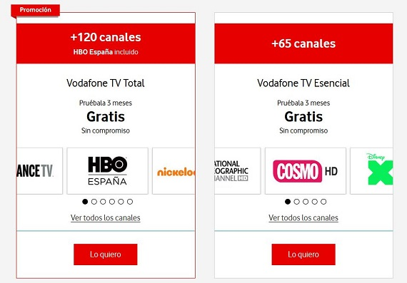 vodafone one tv promociones