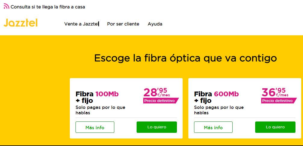 jazztel fibra optica ofertas