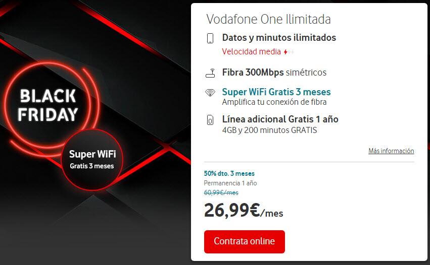 Vodafone Black Friday fibra