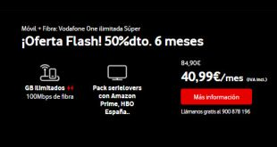 Vodafone Black Friday fibra