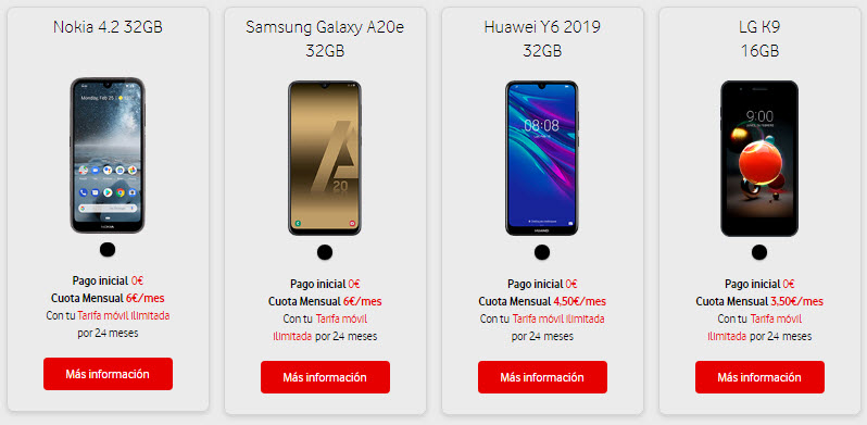 vodafone black friday moviles a plazos