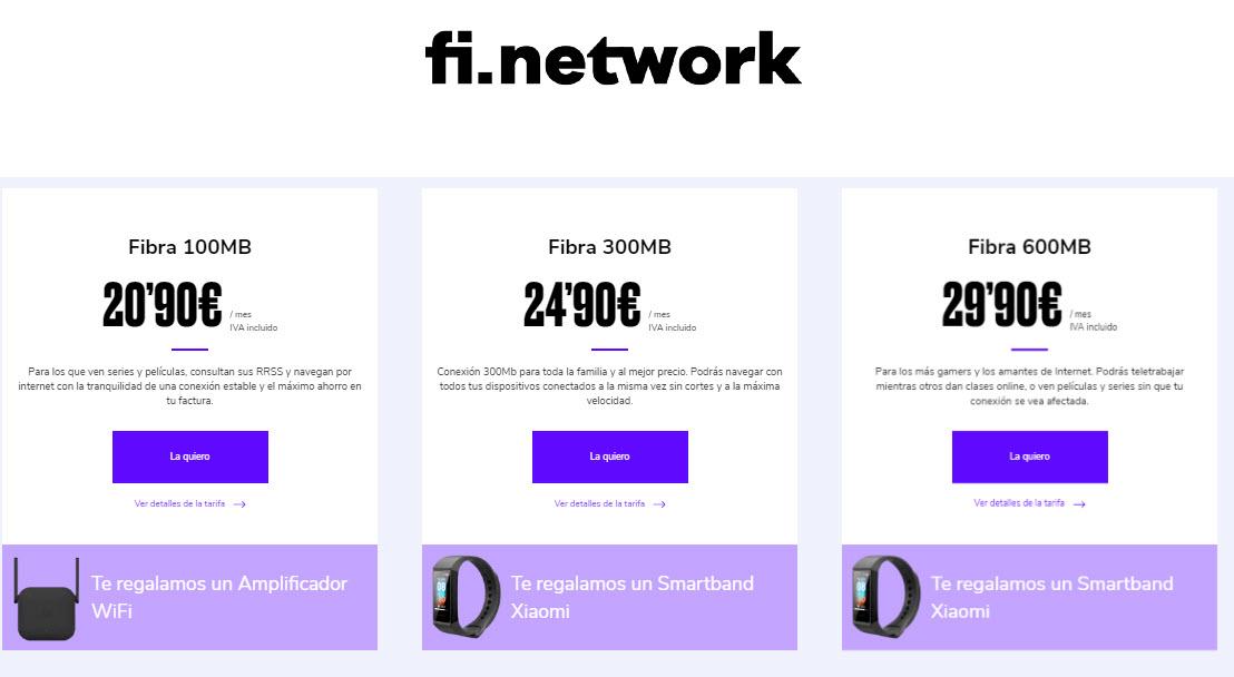 fi network fibra