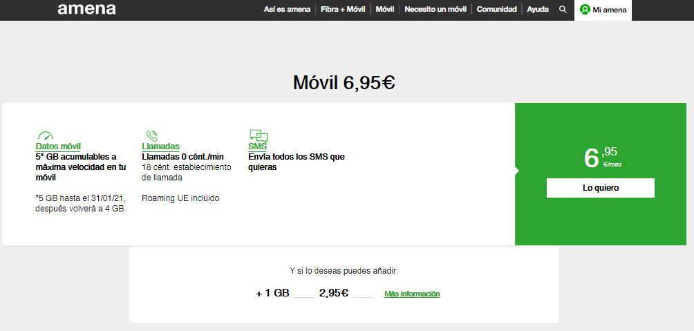 giga más barato en España