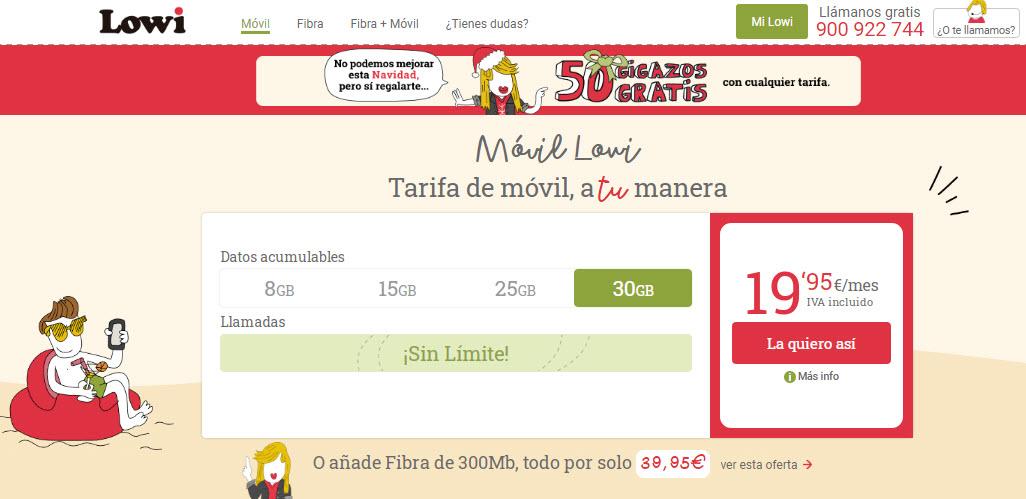tarifas con mas gigas España
